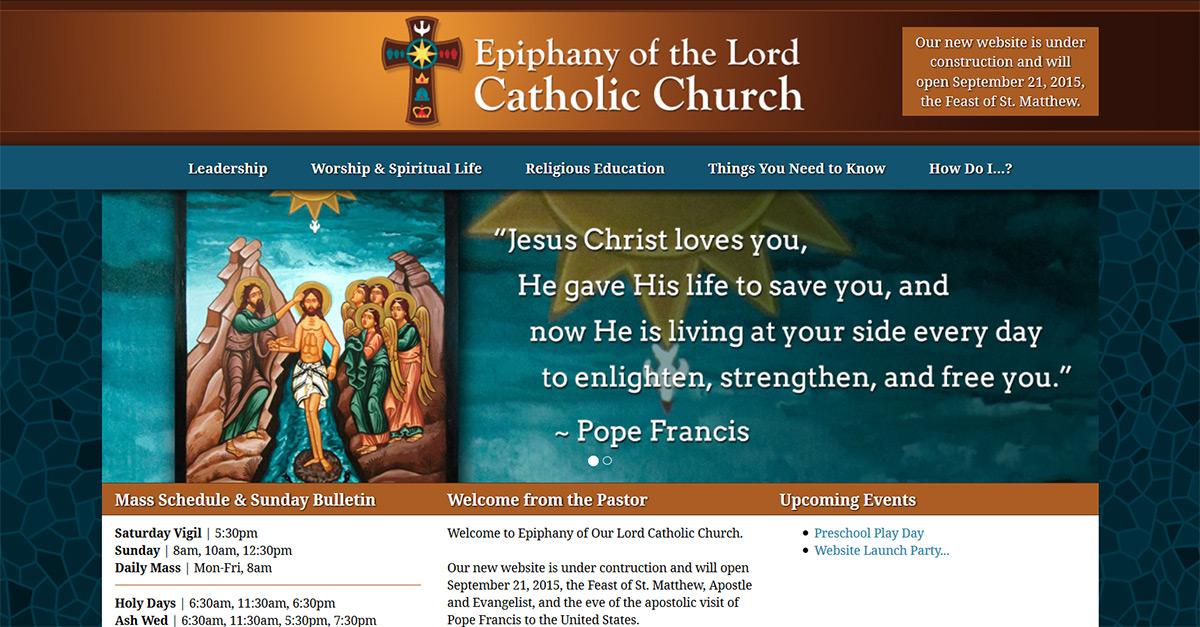 Epiphany Catholic Church Epiphany Of The Lord Catholic